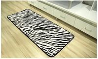 Fashion Design Zebra Printing black white floor mat animal print doorway mat Livingroom rug Carpet Room Pad Rug CR-03 50x120cm
