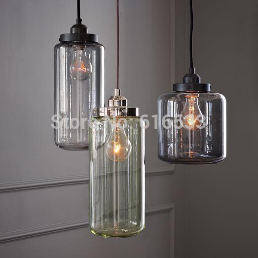 Industriele Keuken Kopen : Glass Jar Pendant Lighting