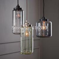2015 Vintage Loft Industry American Lustre Glass Jar Edison Pendant Lamp Kitchen Dinning Living Room Modern Home Decor Lighting