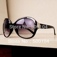 Free shipping fashion glasses for women size square metal rivet frog mirror sun glasses with sunglasses box