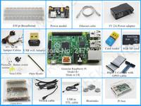 (Pi included) Raspberry Pi Model B plus Starter Pack Starter kits pi box cable leds breadboard Pi Cobbler Breakout Kit GPIO