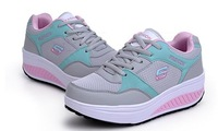 Free Shipping 2013 high quality women sneakers ultralight antiskid running shoes wedge sneakers