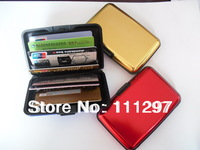 400pcs New Aluminum Wallet ID Credit Card Case Holder Metal New TV Assorted colors Free shipping