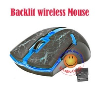 4Colors 10M 2.4GHz  USB Optical Backlit Gaming Wireless Mouse For Computer PC Laptop With Retail Package FREE SHIPPING