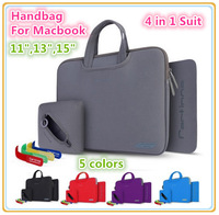 High Quality Neoprene Brand Protecter Soft Bag Sleeve Case For MacBook Air, Pro, 11, 13, 15  inch,4 in 1 Suit,Free Drop Shipping