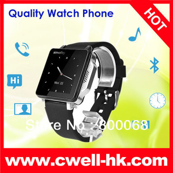 Big Promotion!!! 1.54 inch Capacitive Touch Screen Quad Band GSM 2013 Watch Mobile Phone Excellent Design SIMVALLEY PW315