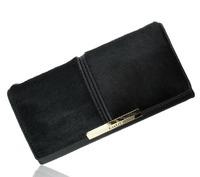 2014 Popular genuine Leather horsehair women lady middle style wallet handbag elegant luxury custom personality free shipping