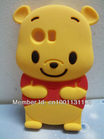 Free Shipping 3D Winnie Silicon Back Cover Case For Samsung Galaxy Y S5360 Free Shipping