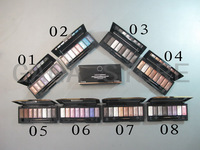 Free shipping 8 colors smoked chocolate champagne earth portable eye shadow