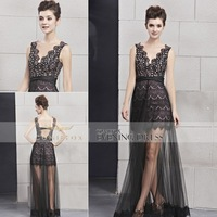 Free Shipping! Coniefox Fashionable Brand V-neck Long Evening Dresses 30031
