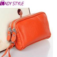 new 2015 hot fashion genuine leather bag women handbag clutch coin purse messenger bags handbags Women famous brands HL3474