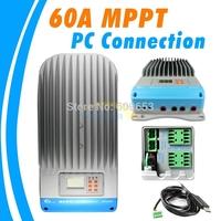 60A ET6415N 12V 24V 36V 48V auto Work eTracer MPPT Solar Panel Battery Charge Controller Regulators