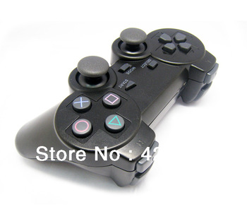 Free Shipping Hot sale 2.4Ghz Wireles Shock Vibration controller Handle 3 in 1 For PS3 PS2 PC Black wholesale