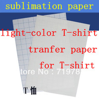 T shirt transfer paper SALES/ A4 SIZE TRANSFER PAPER,SUBLIMATION PAPER FOR HEAT PRESS MACHINE(A GRADE)light color+FREE SHIPPING