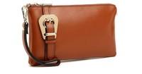 NEW 2014 women clutch wallets genuine leather handbags wallet women messenger bag wristlets small purse evening bag for lady