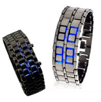 Lava Mens Male Teenagers LED Display Sport Quartz Digtal Bracelet Watches Free Shipping #W35348