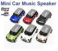 Free Shipping MINI COOPER Car Speaker Support USB Micro SD TF FM MP3 For iPhone Cellphone Tablet PC Mini Car Speaker