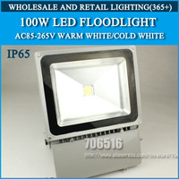 Wholesale 3PCS LED Floodlight 100W IP65 AC85-265V Cold white/warm white Free shipping