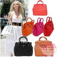 Hot Celebrity Girl Faux Leather Handbag Tote Shoulder Bags Women HandBags Fashion Designer Shoulder Bags Free Shipping Wholesale