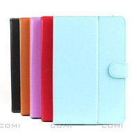 Free shipping,Universal 9.7 Inches Tablet PC MID PU Leather Carrying Case with Smart Magnetic Stand