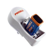 Free Shipping 1Pcs Battery Charger 8126 + 1Pcs 250mAh 9V Ni-MH Rechargeable Battery  Round adapter EU/US Plug