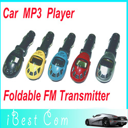 Car MP3 Player Wireless FM modulator Transmitter USB SD MMC Slot free shipping dropshipping Fashion design Wholesales(China (Mainland))