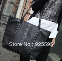 2013 New arrival   Fashion Crocodile pattern women handbag  Free shipping
