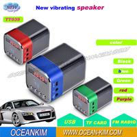 TT-039 USB Mini Speaker TF Micro SD Music Player with FM Radio Portable Sound Box