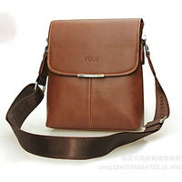 Free shipping 2013   new style    leather   fashion  messenger   male bag bussiness bag