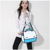 Free shipping stylish 3d paper Gismo cartoon 3d hand bag