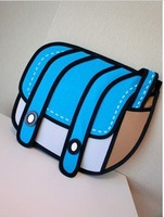 Free Shipping 3d The 3D Bags Cartoon Bag from paper bag shouder women's gift