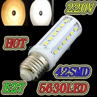 Dimming 15W 110V/220V LED Corn Light E27 E14 B22 led lamp  42 LED 5730/ 5630 Warm White Cool White led  Lamp Free shipping