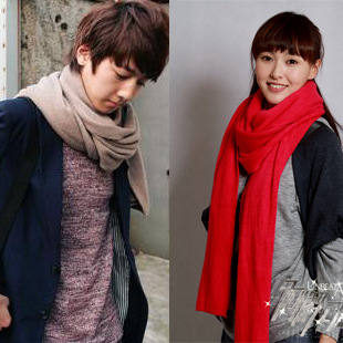 YBB C061 220x25CM Korean Autumn And Winter New Long Thick Cashmere Solid Color Warm Scarf Men Women Generic