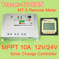 10A MPPT Solar Charge Controller Regulator Tracer 1210RN MAX PV 100V Input with MT-5 remote meter