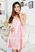 2013 New arrival  women's faux silk nightgown robe ,fashion sexy sleepwear lounge