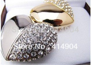 Free Shipping,Jewelry Heart Shape USB Pen Drive16gb ,Crystal Heart USB Memory Disk,Crystal USB Disk 8G/32G,memor stick