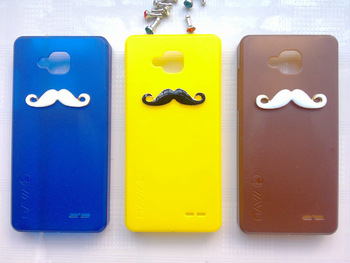 1PC Bulk 2012 Newest arrival jiayu G3 MTK6577 Chaplin Sexy 3D Beard Mustache Hard Case Cover + 1 diamond Dust plug as Free Gift