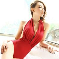 one piece swimwear beach wear women free shipping monokini fashion red color sexy in the beach A903