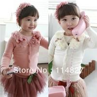 New style baby girls spring/Autumn sweet casual cardigan coat girl 's cardigan coat,5pcs/lot,