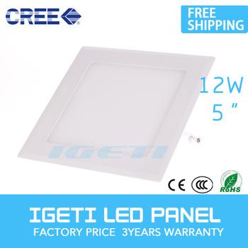 AC85-265 LED panel lights 12W Square