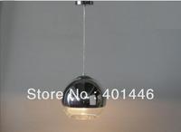 Pendant Lights Chrome Glass Ball Bubble pendants lamp diameter 25cm one light EMS Fast Shipping