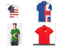 Flag Version Classic Polo SHIRT Men's 100% Cotton Shirt POLO Shirts shirt Brazil.USA.UK South Korea South Africa Italy  style