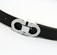 2013 design big belts for  men&women genuine brand belt Silver&gold belt buckle luxury clasical belt