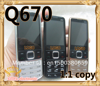 Free Shipping Unlocked Cell Phone Dual SIM 6700 Q670 With Russian Keyboard