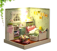 3D DIY dollhouse kit room box miniatures Furniture sets The handmade mini model house The Wizard of Oz