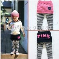 Free shipping 2013 new fashion 5pcs/lot kids skirt girls pants skirt children's tights pants, baby divided skirt