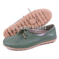 2014 Women's Shoes Ballet Flats Woman Casual Shoes Sapatos Femininos Anti-skid Soft Leather Shoe Tendon Sole 5 Colors