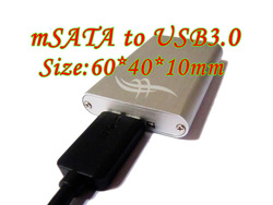 mSATA to USB 3.0 adapter mini SATA/mini pci-e SSD to USB3.0 HDD Enclosure(China (Mainland))