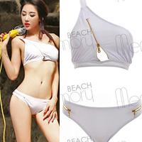 2014 New Fashion Sexy ladies's bikinis vs swimwear swimsuits beachwear with zipper LL405