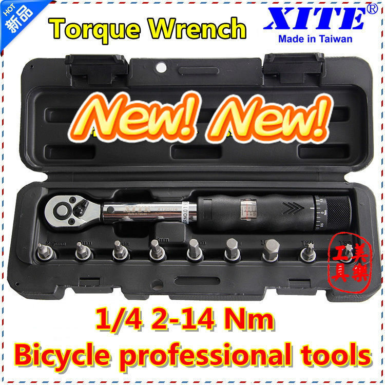 "XITE 1/4""DR 2-14Nm 10 piece torque wrench Bicycle bike tools kit set tool bike repair spanner(China (Mainland))"